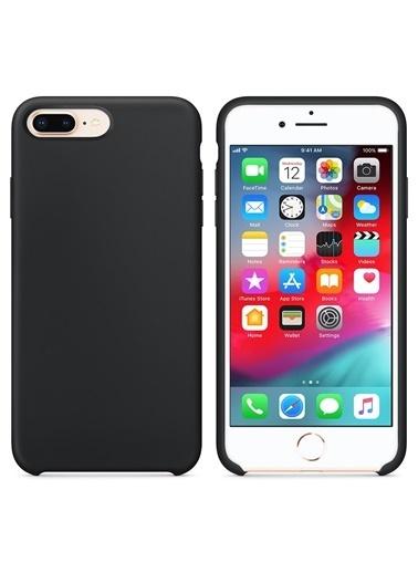 Bludfire Apple iPhone 7 Plus/8 Plus Kılıf Liquid Lansman Silikon Siyah Siyah